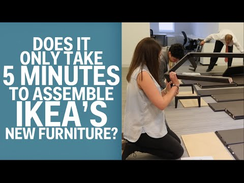 IKEA's Newest Furniture Comes Together In Five Minutes—Without Any Tools
