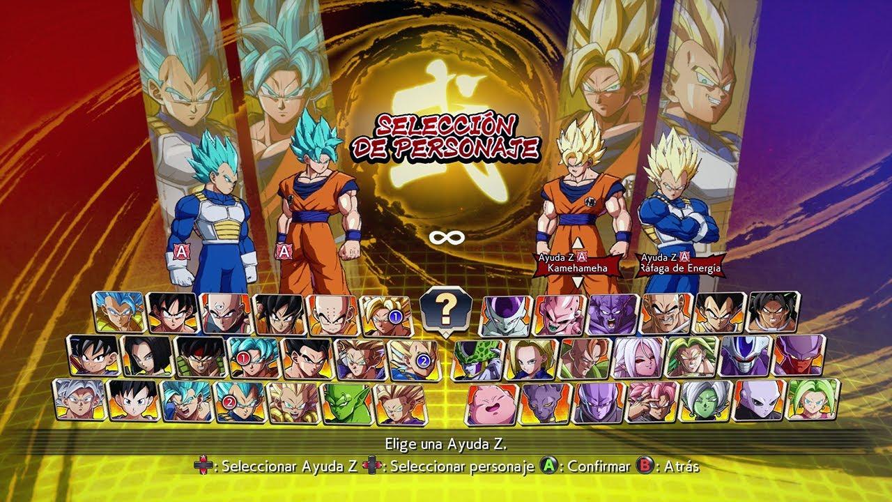 DRAGON BALL FighterZ: Goku SSB & Vegeta SSB vs Goku Super Saiyan & Vegeta Super Saiyan