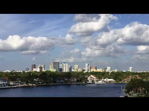 Time lapse of the Fort Lauderdale, Florida skyline