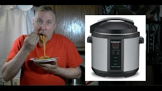 Pressure Cooker Spaghetti + Sausage Kielbasa Cuisinart