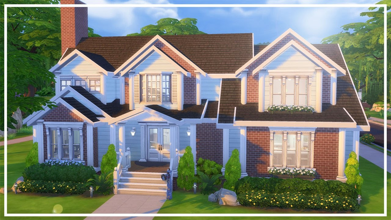 Huntley house the sims 4 speed build youtube for Building a house for 250k