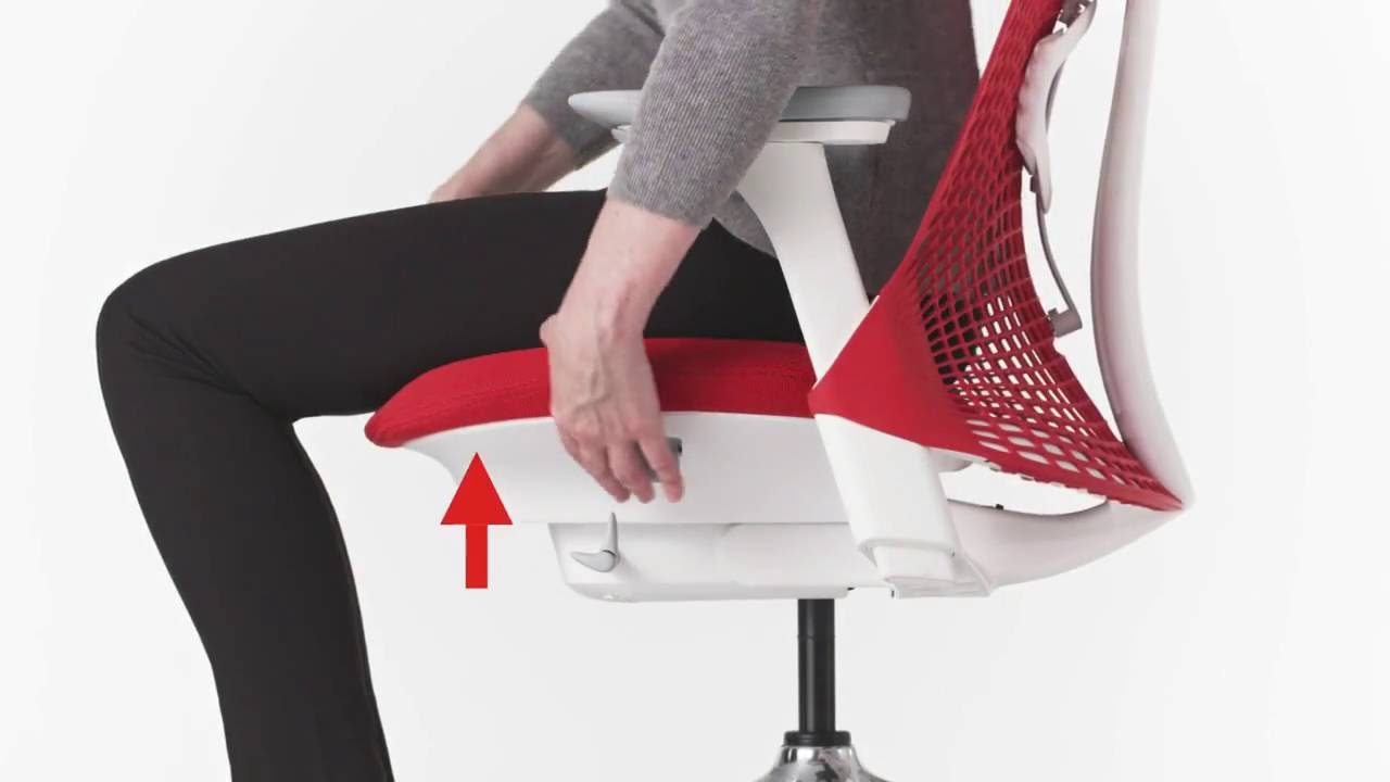 Herman Miller Sayl Chair User Adjustment YouTube