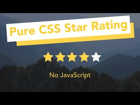Css Star Rating Widget - How To Create Star Rating In Css | Pure Html And Css Tutorial Hindi