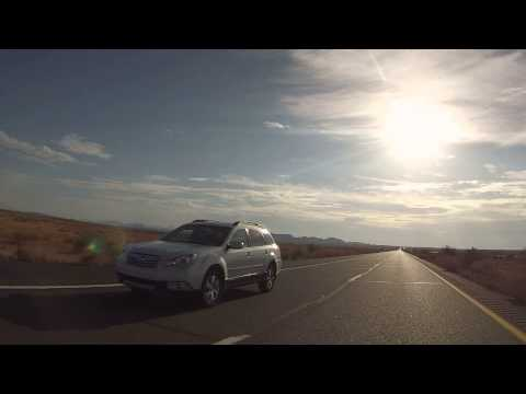 Rear View Drive from Mile Marker 106 to 83 on I-8 West, Sentinel, AZ, 10 July 2014, GP030071