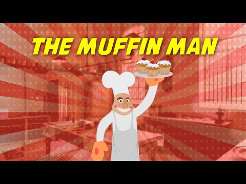 The Muffin Man (instrumental nursery rhyme - lyrics video for karaoke)