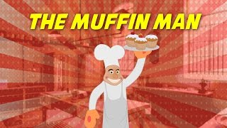The Muffin Man (instrumental nursery rhyme - lyrics video for karaoke)