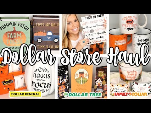 DOLLAR STORE FALL & HALLOWEEN HAUL | NEW FINDS DOLLAR TREE, DOLLAR GENERAL, FAMILY DOLLAR