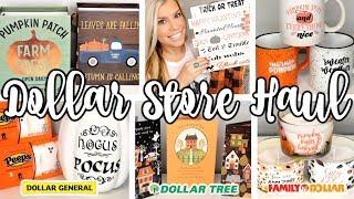 DOLLAR STORE FALL & HALLOWEEN HAUL | NEW FINDS DOLLAR TREE, DOLLAR GENERAL, FAMILY DOLLAR