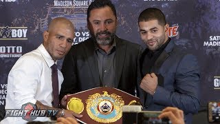 MIGUEL COTTO VS. SADAM ALI FULL KICKOFF PRESS CONFERENCE & FACE OFF VIDEO