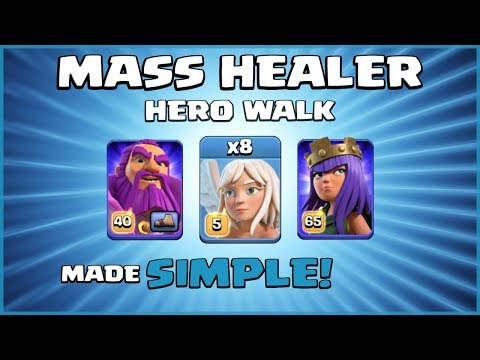 """HEAL ME!"" Best New TH12 Attack Strategy 2019 - MASS HEALER HERO WALK! - Clash Of Clans"