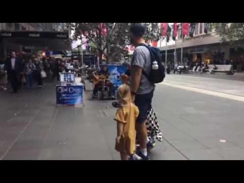 Opal ocean J.A.M live Bourke street Melbourne Australia lunch time