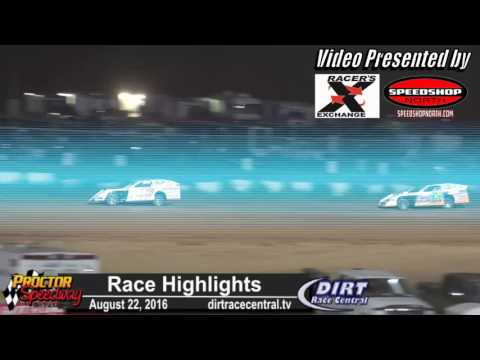 Proctor Speedway 8/22/16 Race Highlights