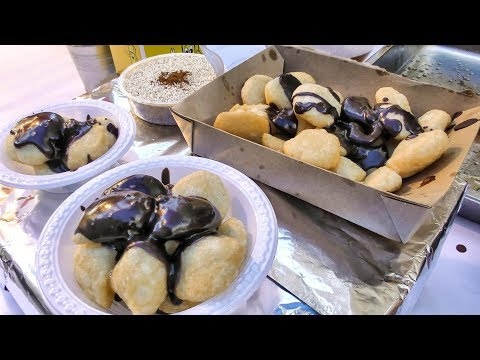 """Greek Fried Sweets """"Loukoumades"""" Tasted in London. Street Food of the World"""