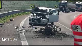 Frontale auto-moto a Castelnuovo