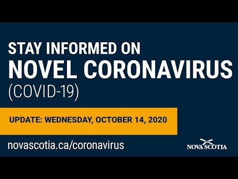Update COVID-19 For Nova Scotians: Wednesday October 14