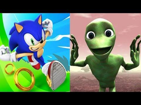 Sonic Dash vs Dame Tu Cosita Challenge Game