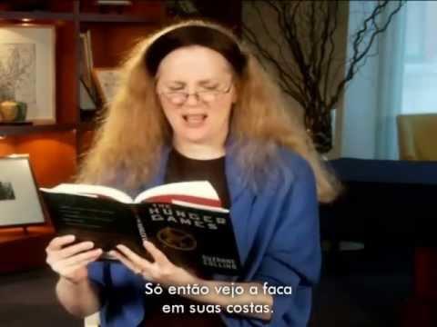 "Suzanne Collins lê ""Jogos Vorazes"" [LEGENDADO]"