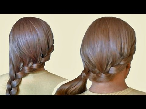 Side Swept French Braid Hairstyle On Yourself Tutorial Youtube