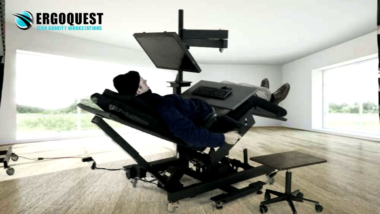 Adjustable Monitor Stand for Recliners  YouTube