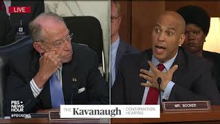 Senators debate Sen. Booker's move to publicly release Kavanaugh email thumbnail