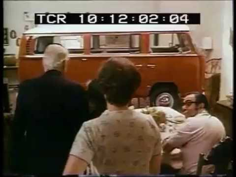 classic vw bus commercial, called a station wagon!