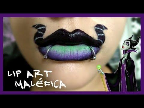 Lip Art MALÉFICA💋  Halloween 🎃