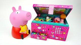 Сюрпризы и игрушки свинка Пеппа  Распаковываем коробку с игрушками из мультика про Пеппу