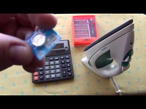 Как поменять батарейку в калькуляторе citizen