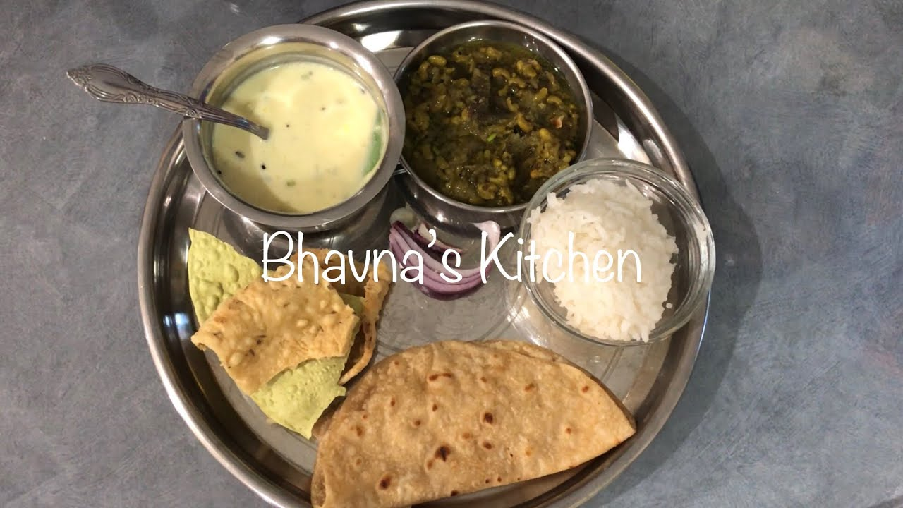 Today S Dinner Gujarati Thali Meal Ideas Live From Bhavna S