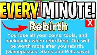 Roblox livestream! 600+ rebirths Mining Simulator