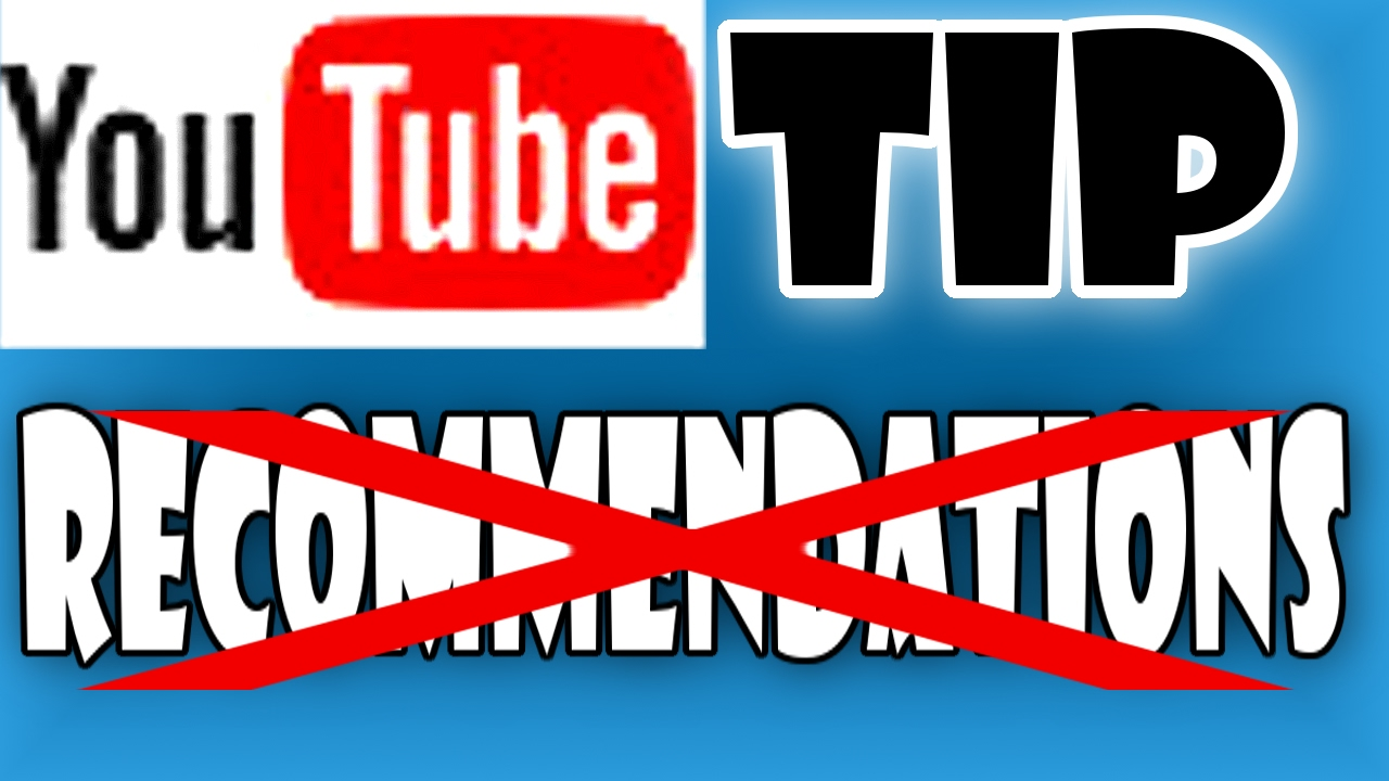Turn off YT Recommendations   YouTube Tip - YouTube