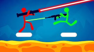 DODGE The LASER BEAM Or DIE! (Stick Fight)
