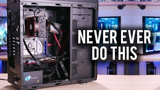 What happens when you build a PC COMPLETELY WRONG?!