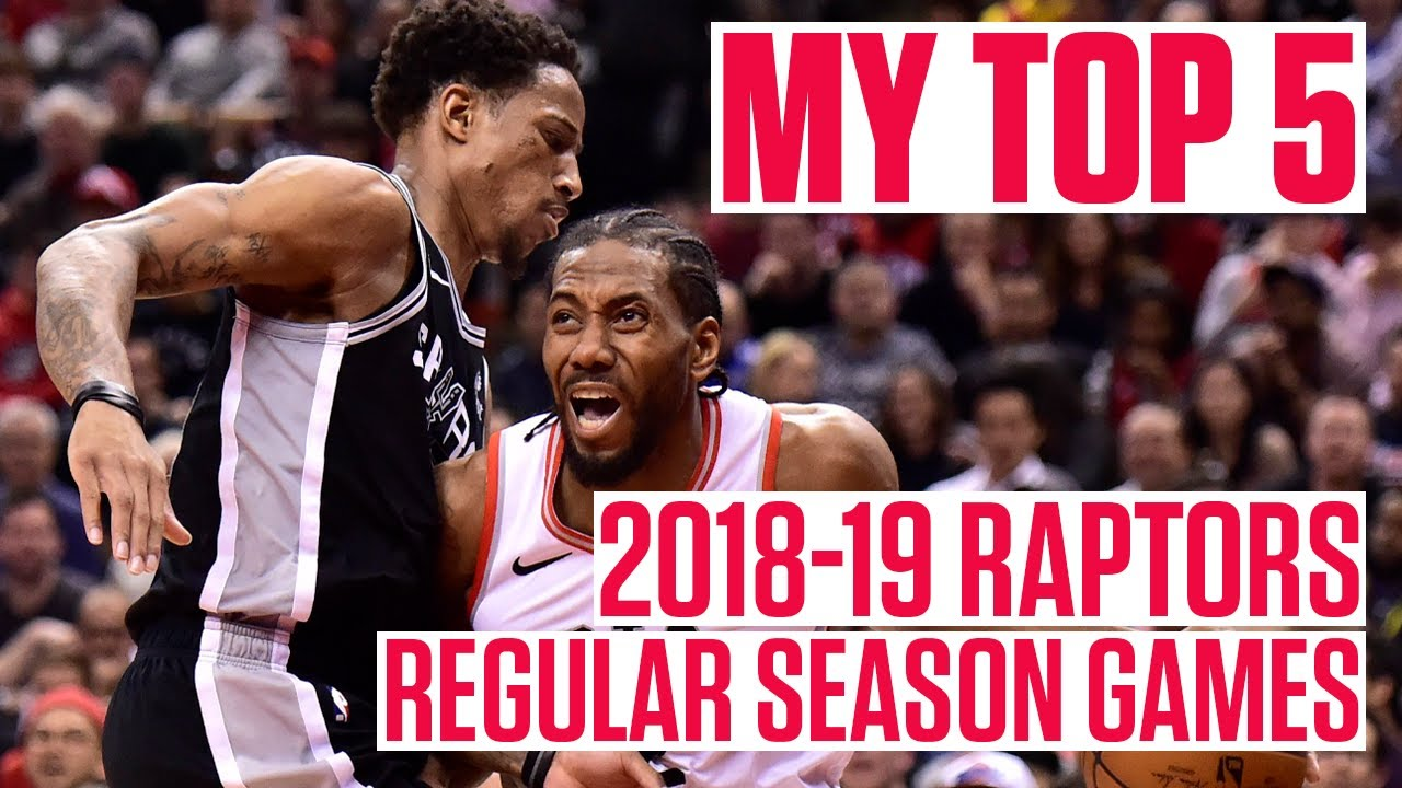 My Top 5: 2018-19 Raptors Regular Season Games