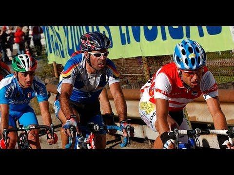 World Road Cycling Championships 2003 - Hamburger, Bettini, Van Petegem, Astarloa in winning group
