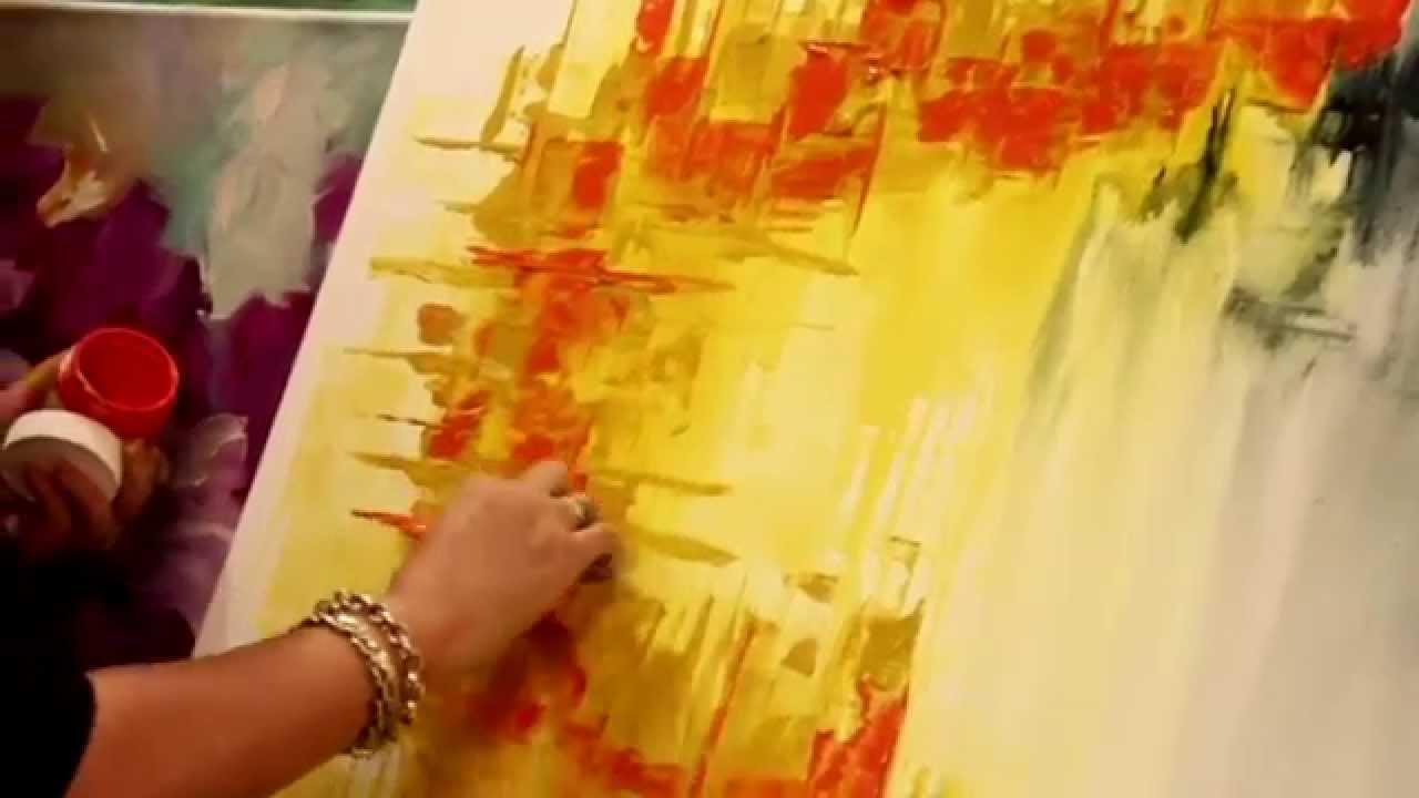 Como pintar un cuadro abstracto gabriela mensaque - Como hacer cuadros de tela ...