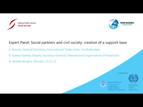Panel Social partners and civil society: creation of a support base
