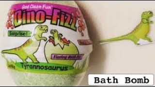 DIY: DINO-FIZ BATH BOMB! What Dino toy do we get?!