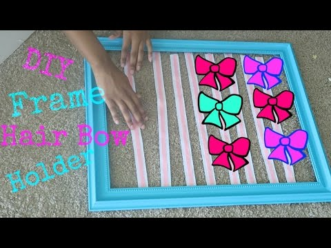 Diy easy frame hair bow holder youtube solutioingenieria Image collections