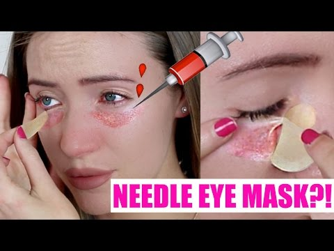 Trying The Botox Needle Eye Patch! OUCH!