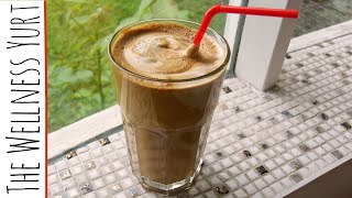 How To Make Iced Coffee: Greek Frappe with Almond Milk