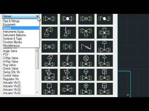Drawing P&ID With Mech-Q In AutoCAD
