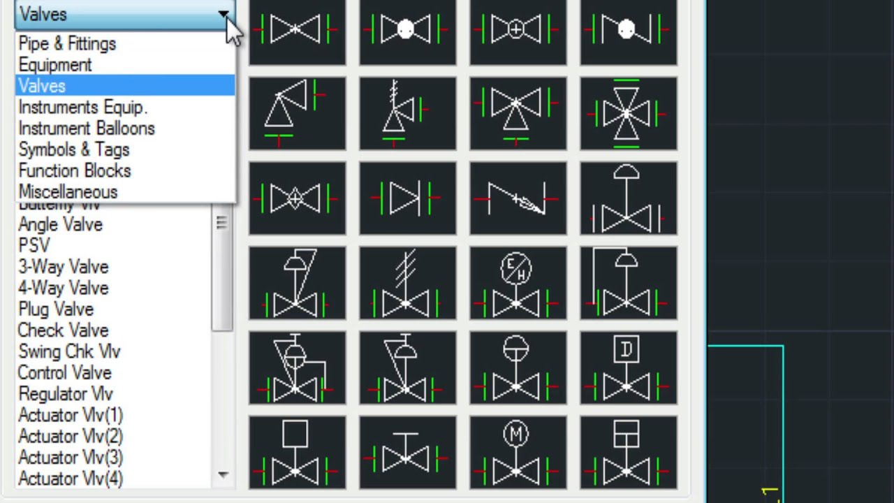 medium resolution of drawing p id with mech q in autocad