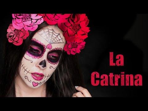 Halloween makeup tutorial ❤ La Catrina - Sugar Skull - Day of the Dead - 동영상