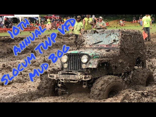 4x4's Sling Mud At The Slocum Mud Bog