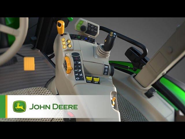 Tracteur 5R John Deere - interface opérateur
