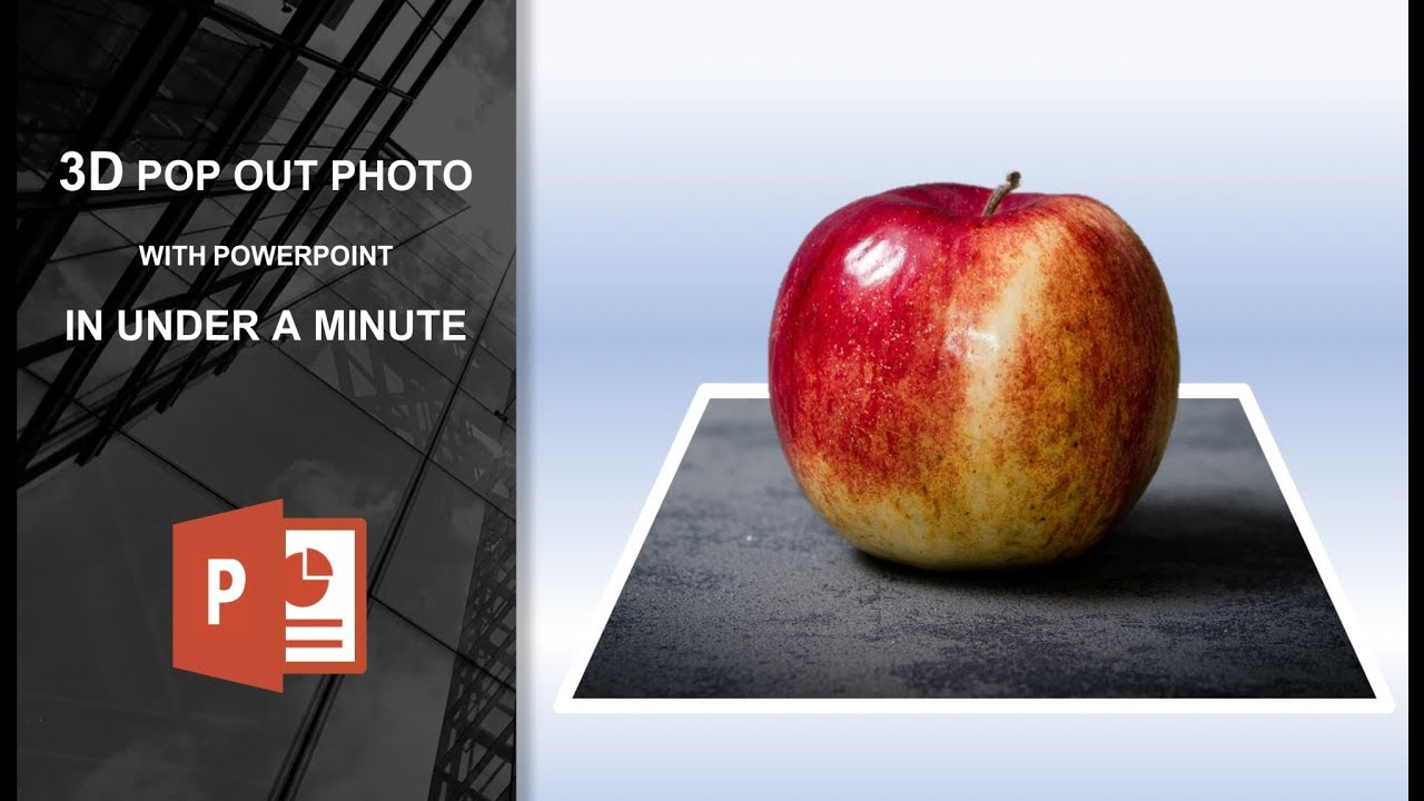 Create a Stunning 3D Pop out Photo with PowerPoint in under a Minute
