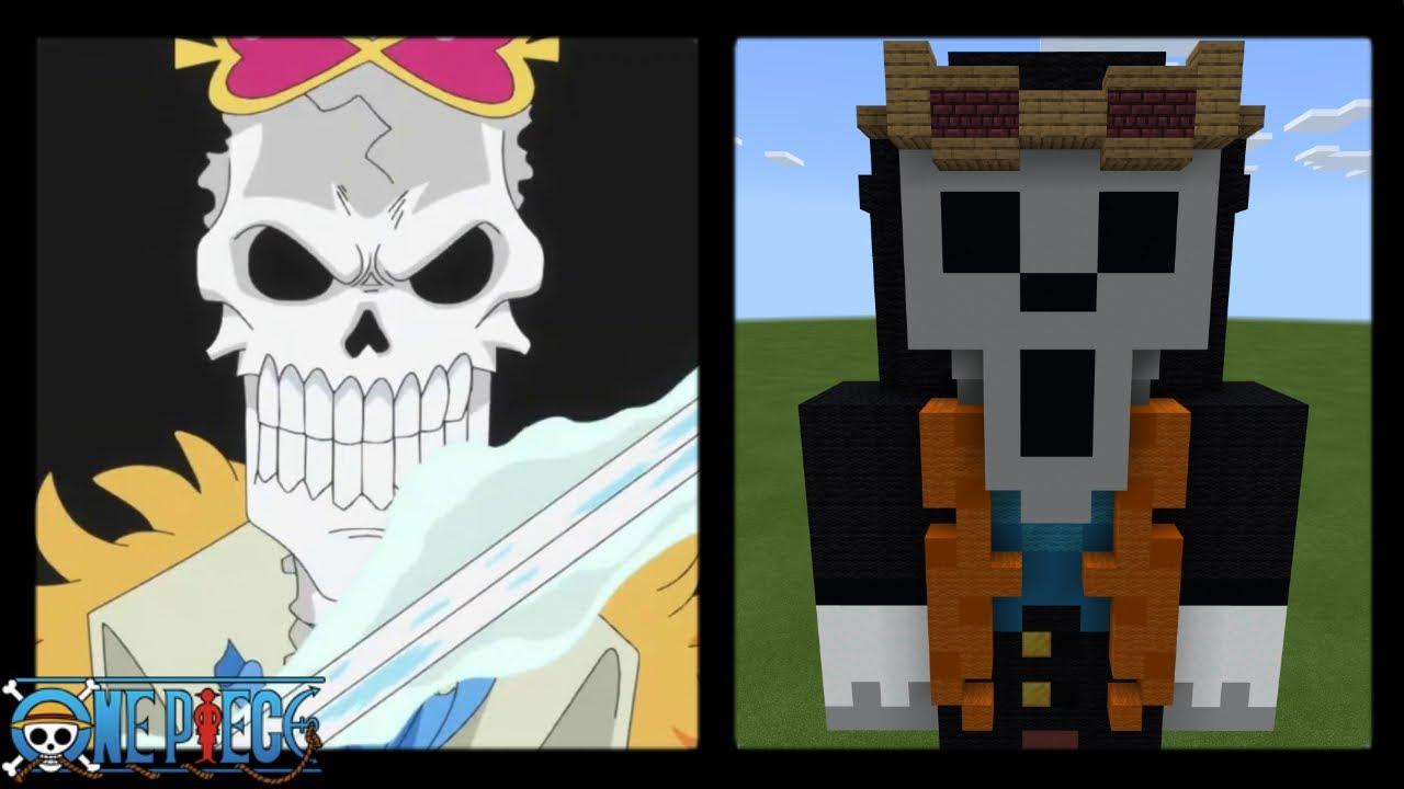 Minecraft  Brook Skin Statue  One Piece