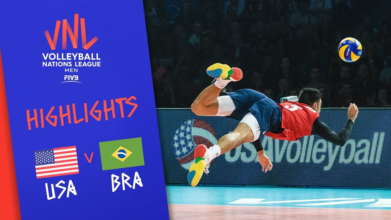 Download USA vs. BRAZIL - Highlights | Semi-Final | Volleyball Nations League 2019