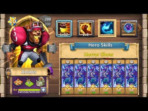 12 SKILL | BRUTE FORCE | ANUBIS | IRON WILL | GAMEPLAY | CASTLE CLASH